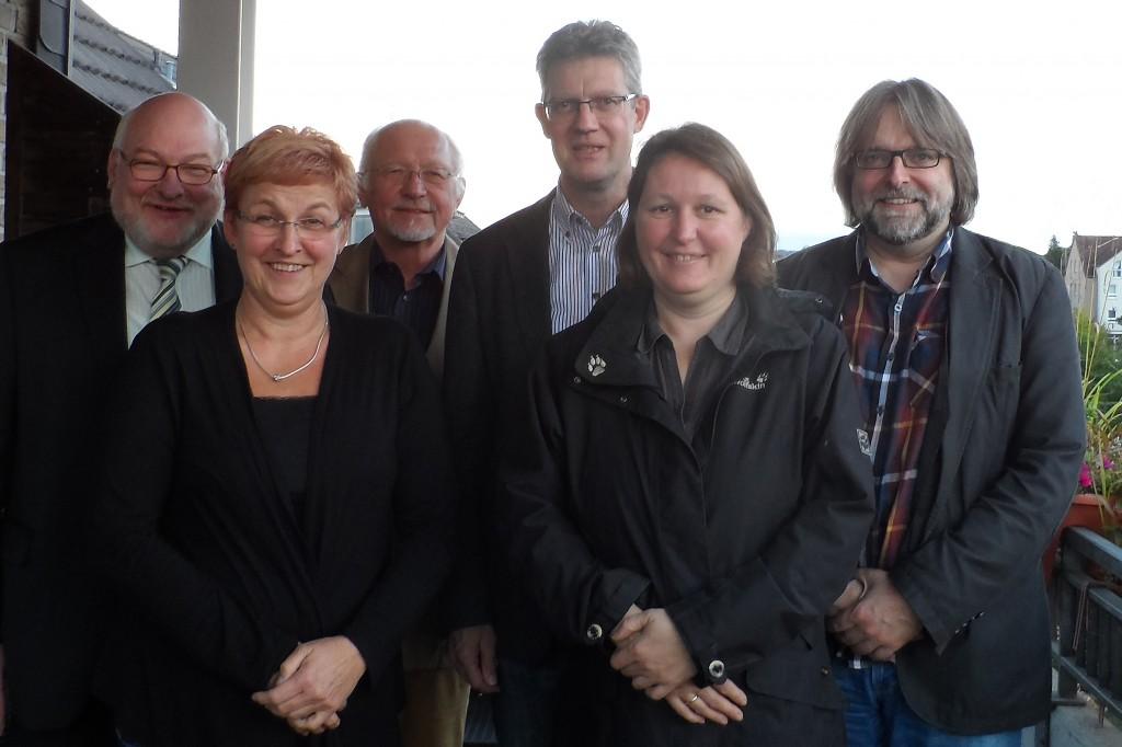 vl.: Pastor Georg Späh, Michaela Schaefer, Alfons Fiedler, Andreas Kühn, Stefani Grüner, Meinrad Rupieper